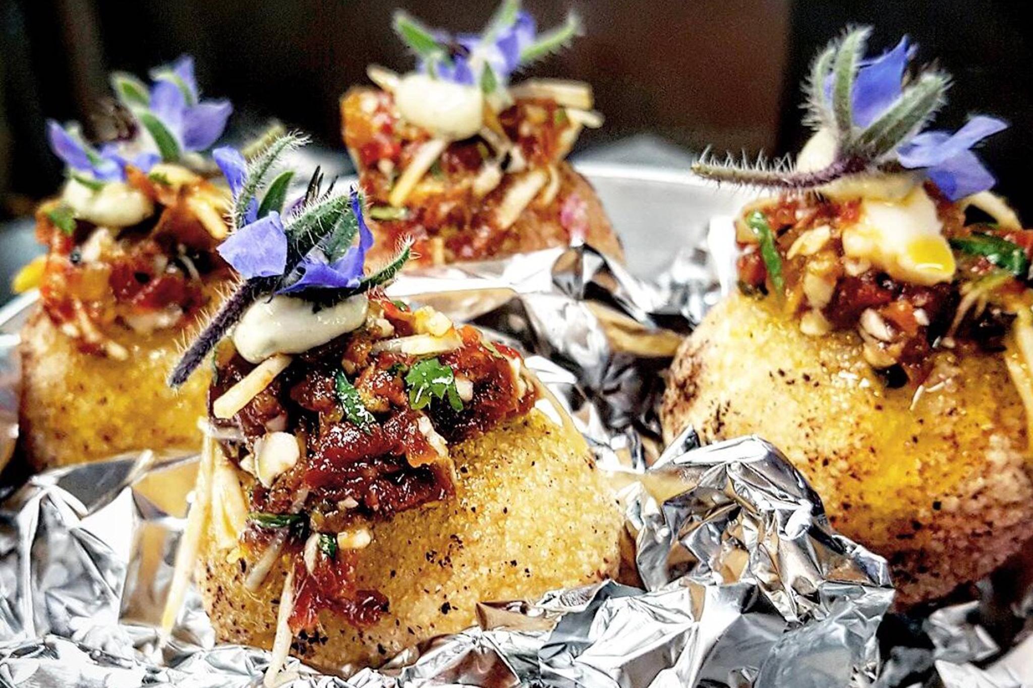 Scallop ceviche panipuri at Nur