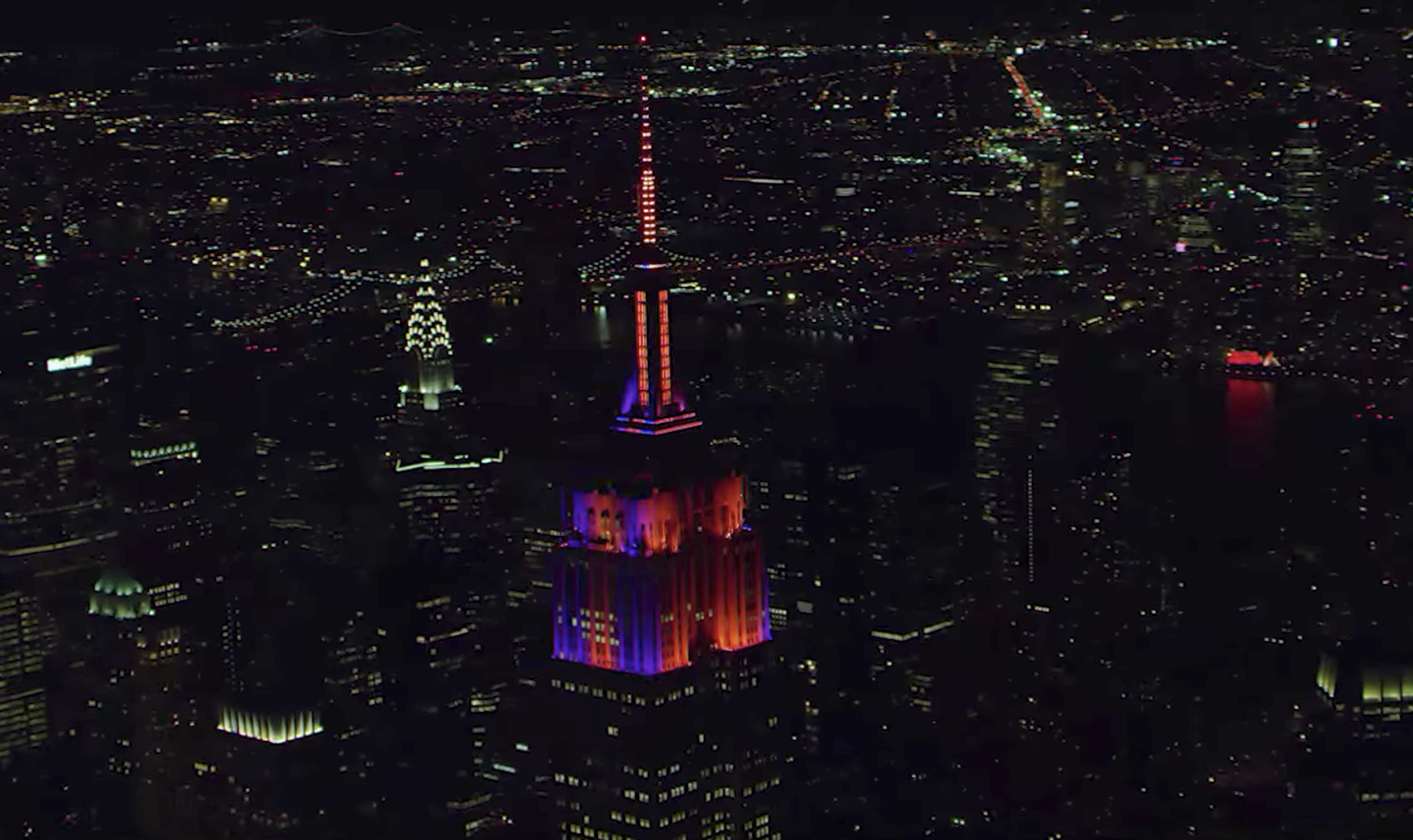 The Empire State Building will display a ghoulish Halloween light show tonight