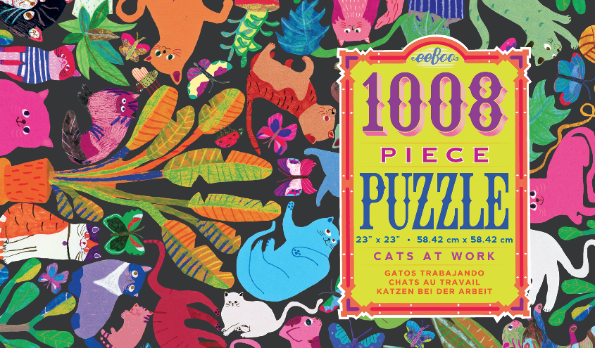 1008 Piece Cats at Work Puzzle
