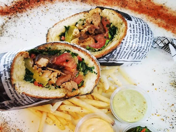 Meatoss sandwich at Meatoss Street Grill