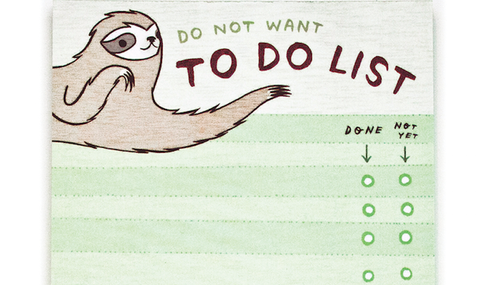 Sloth to Do List Notepad – Do Not Want to Do List