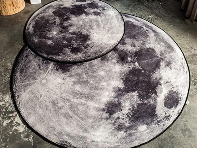 3D Moon Or Earth Area Rug