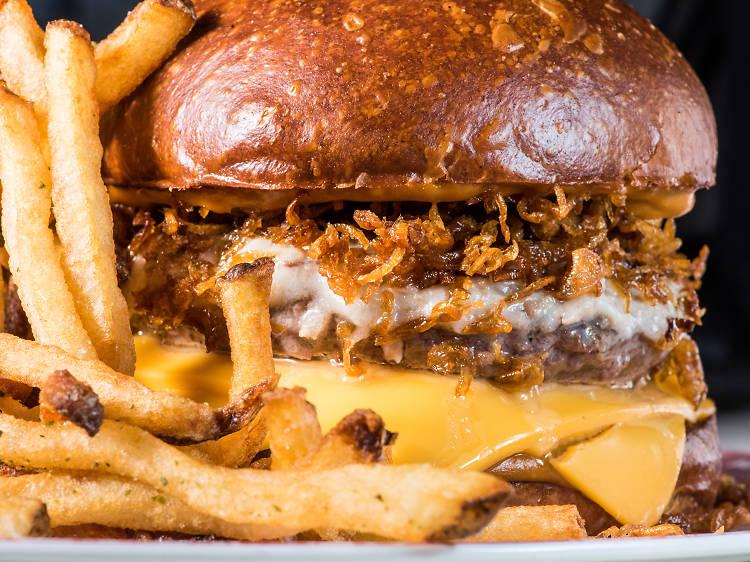 86'd burger at Chumley's