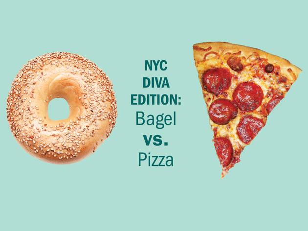 NYC Diva edition: Bagel vs. Pizza