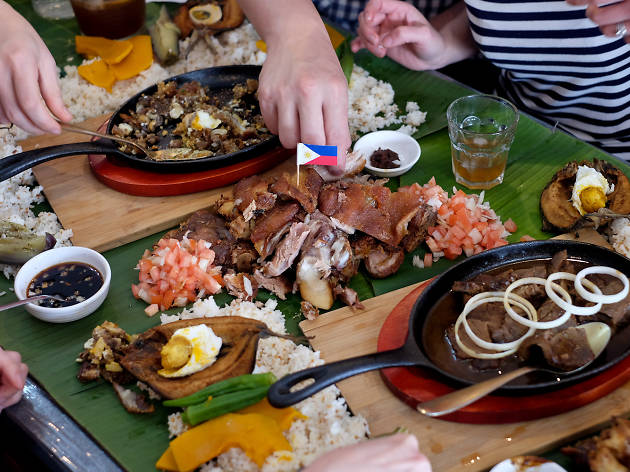 Boodle fight at Sizzling Filo