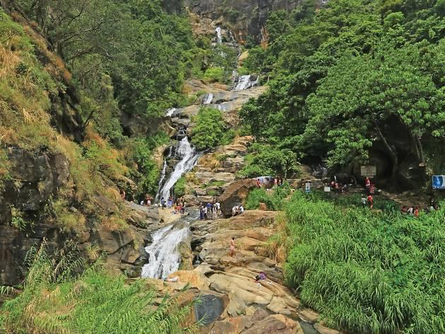 Awe-inspiring view of the Ravana falls