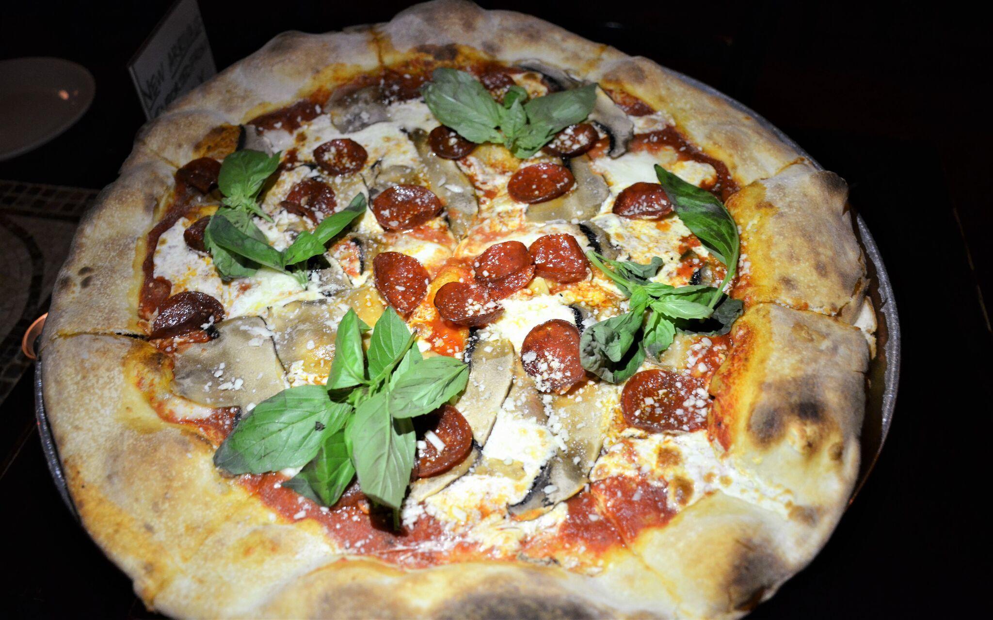 Mushroom and pepperoni at Giuseppina