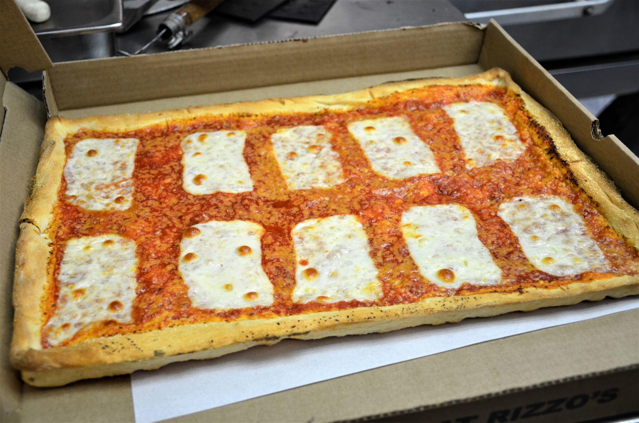 Large Square at Rizzo's Fine Pizza