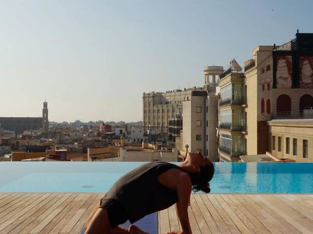Relax with rooftop yoga and cocktails at the heart of the city