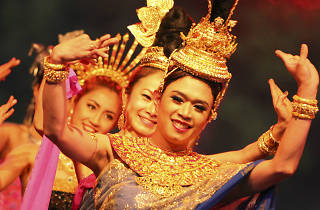 Traditional Thai dancers wearing national dress