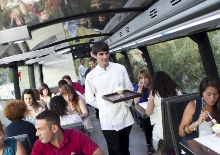 Take in Barcelona's famous sights while enjoying a gourmet meal