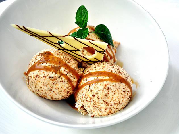 Helado de pan de centeno Gaztelupe