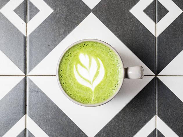 matcha latte Hello Kristof