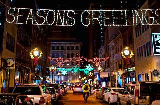 Holiday Lights on Jewelers Row