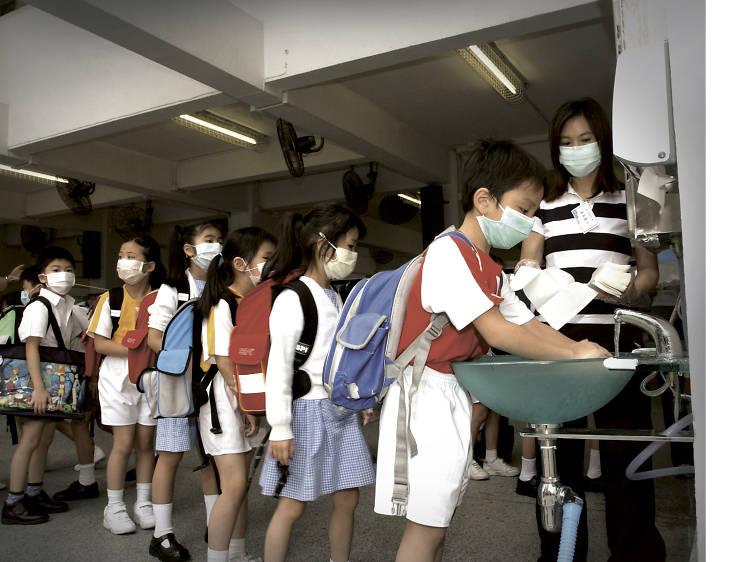 Children get into good hygiene practices at school