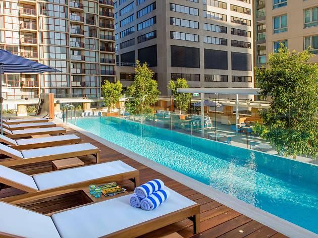Sunrise Yoga by the Pool