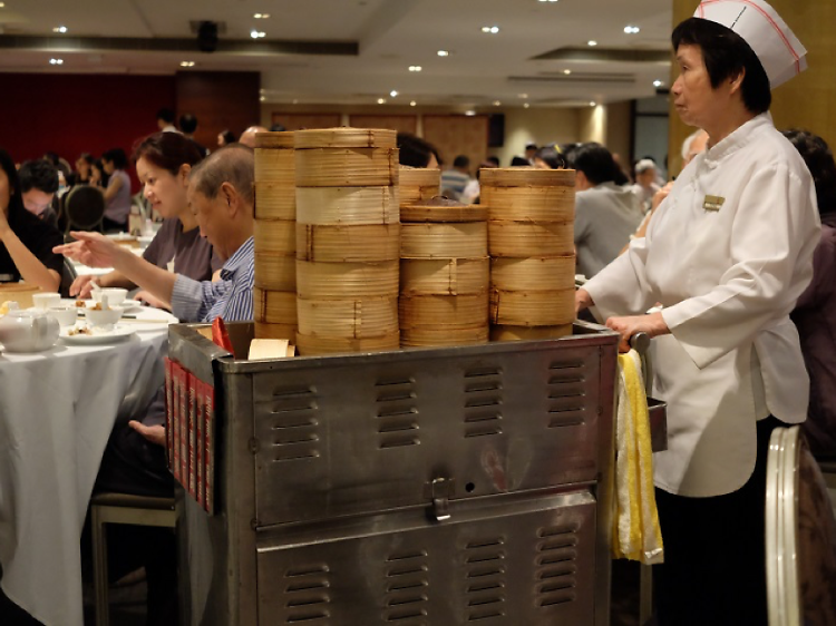 See a dim sum cart in action