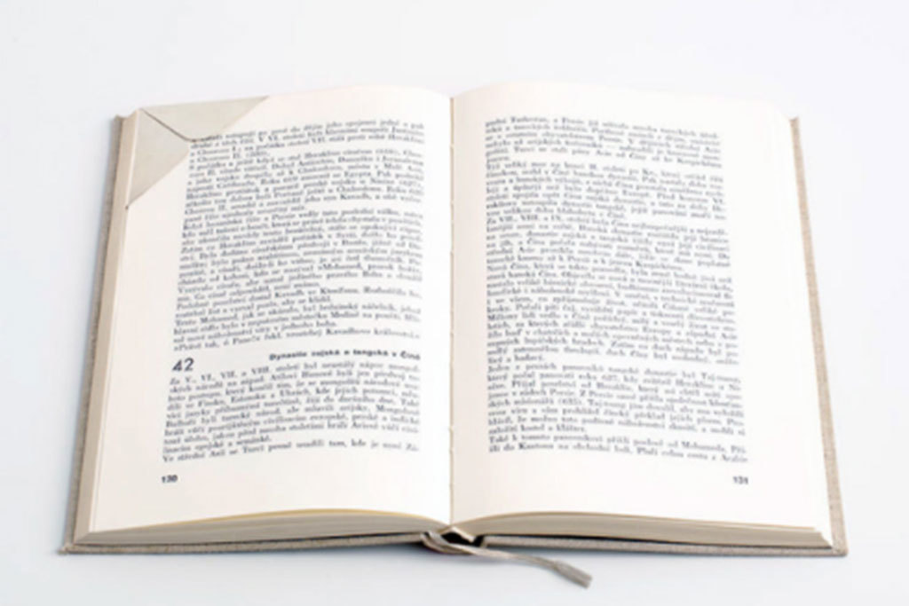 For the bookworm: WMS & Co. sterling silver corner page bookmark