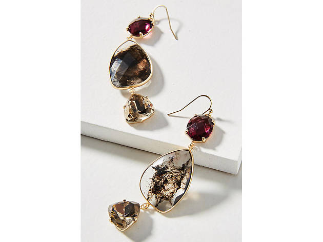For the fashionista: Anthropologie Triumverate drop earrings
