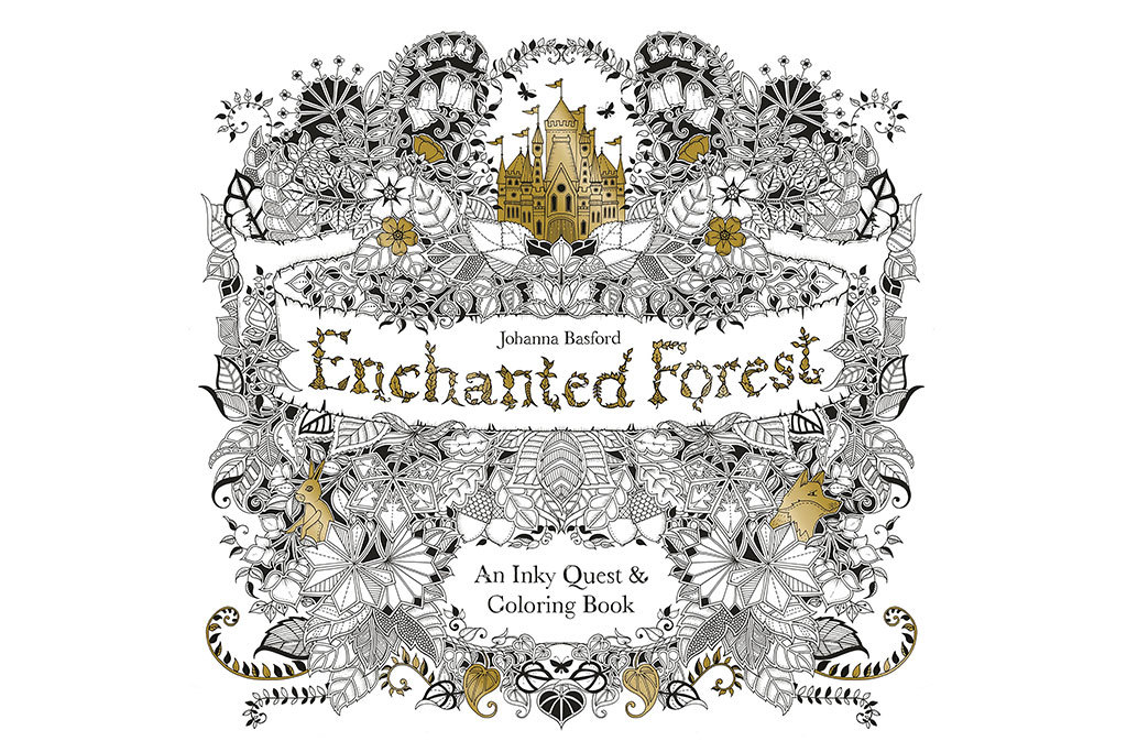 For the compulsive doodler: Enchanted Forest coloring book