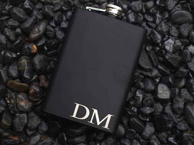 For the party animal: Yours Personalized engraved hip flask