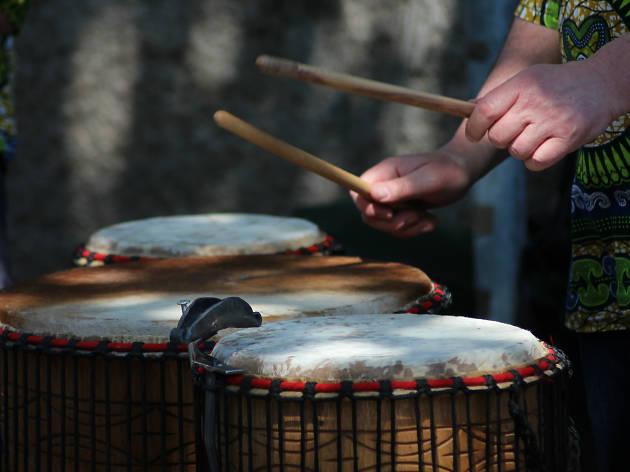 Generic Djembe drumming