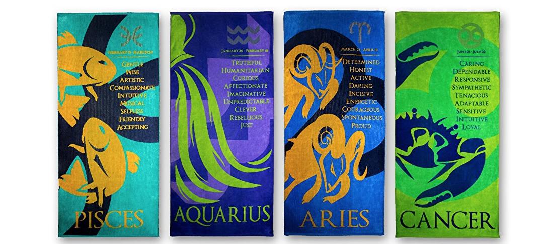 Zodiac Beach Towels, Astrology Horoscope by Blanket Statements