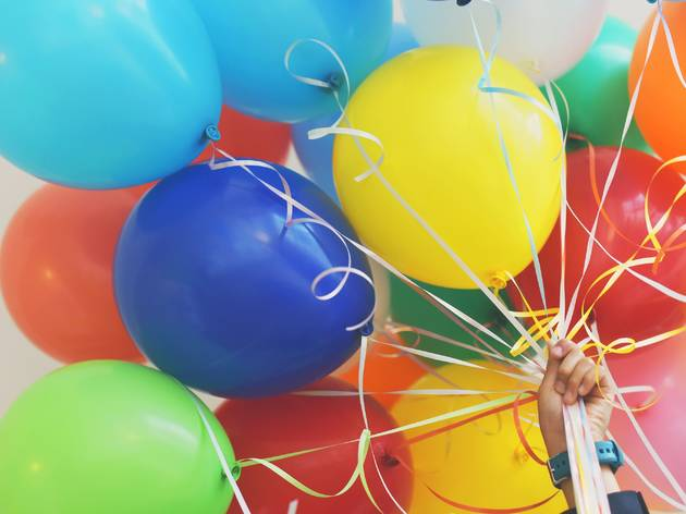 Generic coloured balloons
