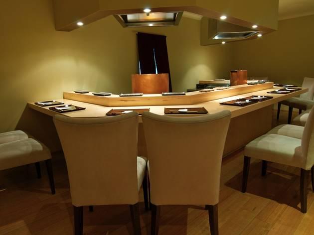 Dining area at Tempura Hajime