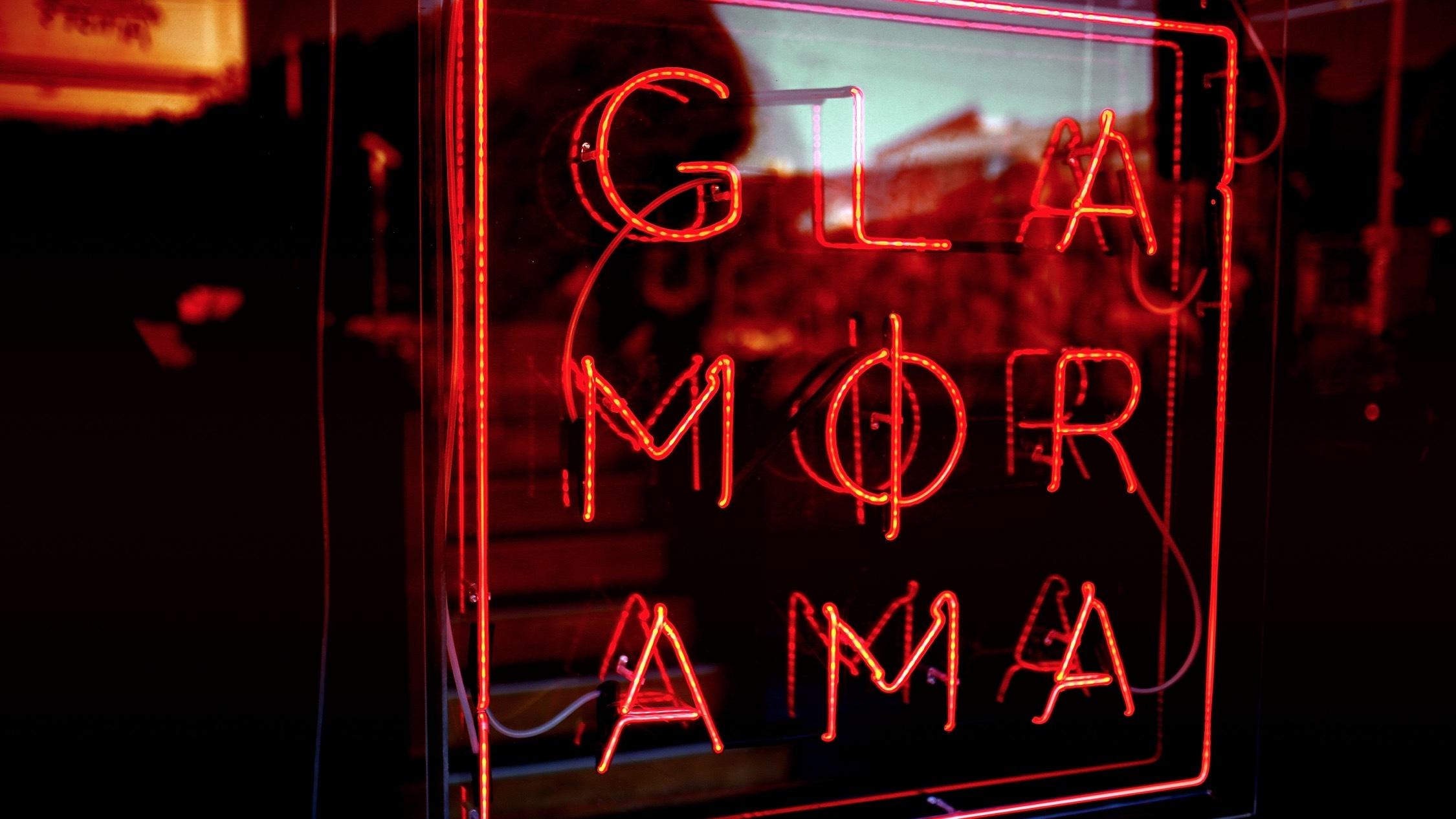 Neon sign at Glamorama