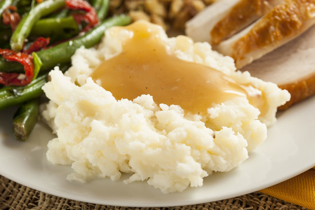 Mashed potatoes Thanksgiving meal