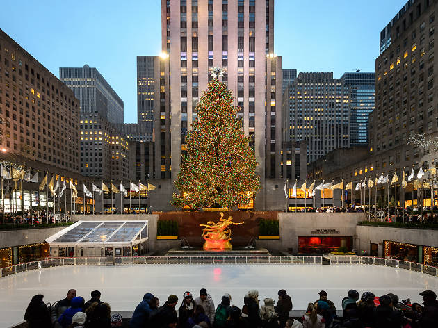The ice skating rink at Rockefeller Center opens in less than three weeks