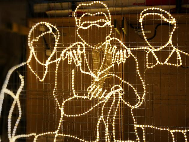 La llum que il·luminarà el Raval aquest Nadal