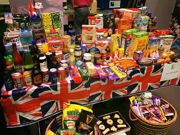 Jim's British Market interior display - Gland