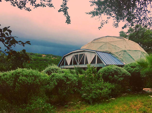 A geodesic dome
