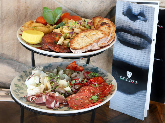 Antipasti platter at Criniti's