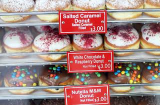 Donut shelves 1 at Daniel's Donuts
