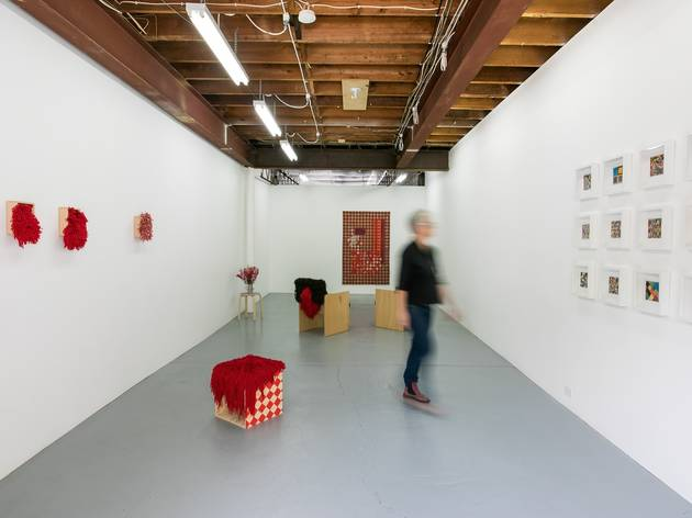 Pieces of work displayed on the walls at Airspace Projects