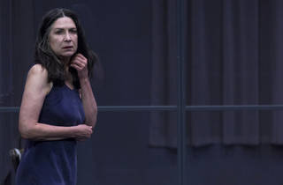 The Testament of Mary 2017 Malthouse Theatre production still 01 feat Pamela Rabe photographer credit Pia Johnson