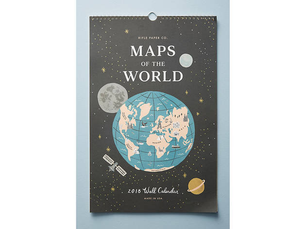 Maps of the World 2018 Calendar