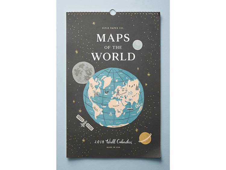 Rifle Paper Co. Maps of the World 2018 Calendar
