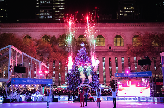 Here's the date for the Bryant Park Winter Village's tree lighting ceremony