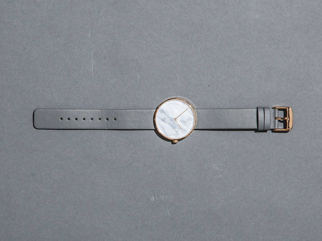 Molvena watch in rose gold with marble face