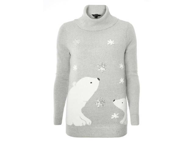 Women's grey polar bear rollneck by Dorothy Perkins, £21
