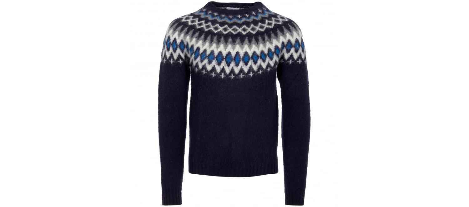 Men's Birner Fairisle knitted jumper by Norse Projects, £170