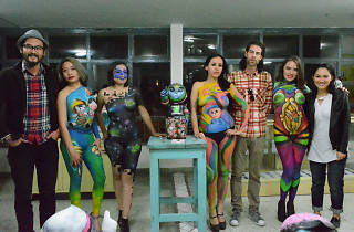body paint en el MUJAM