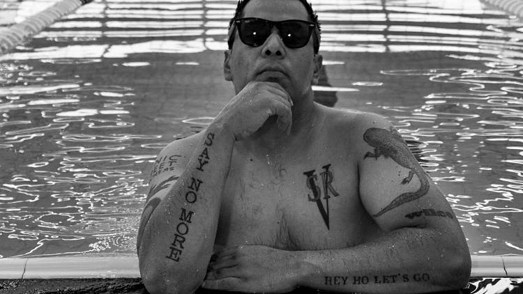 El escritor Carlos Velázquez, autor de la La efeba