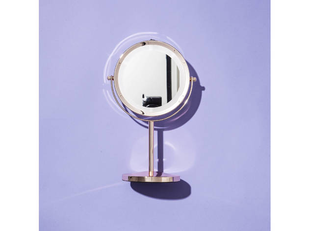 Danielle Creations rose-gold finish light-up mirror