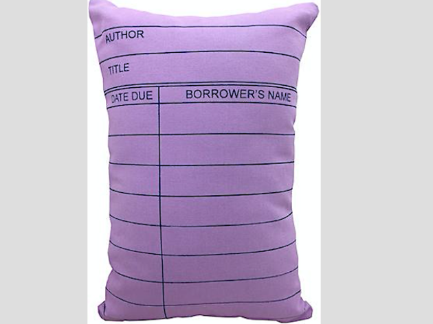 Pillow: Lilac Library Card