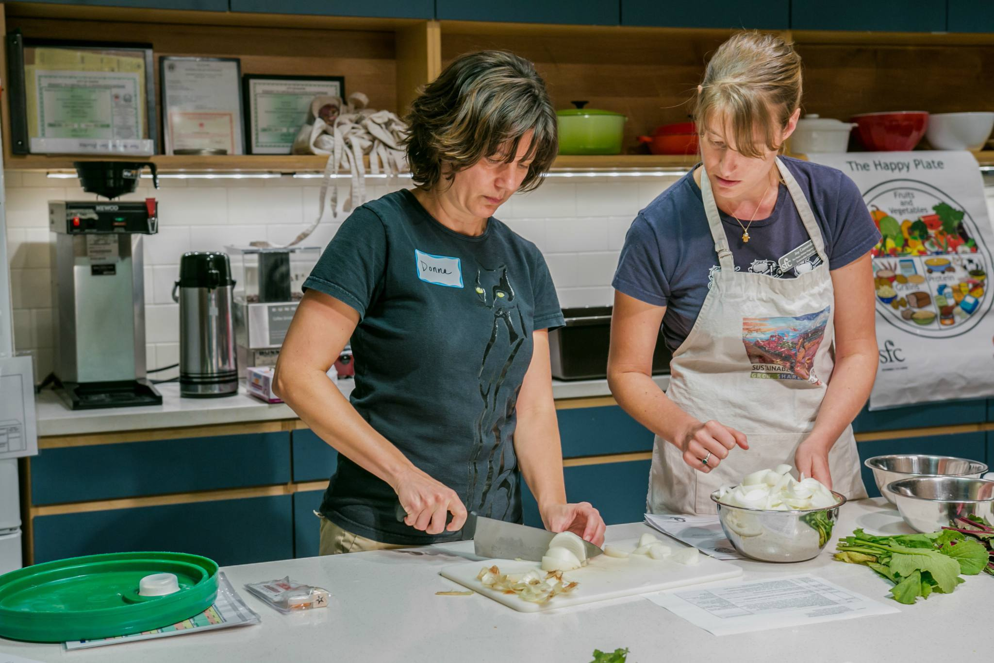 Cooking class at Sustainable Food Center